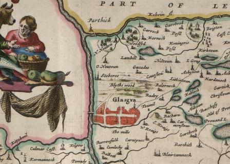 Blaeu's Map of Glasgow